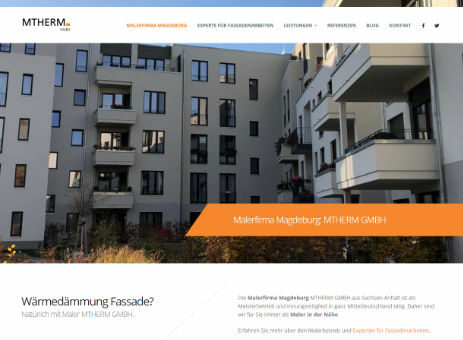 Website MTHERM - Malerbetrieb Magdeburg